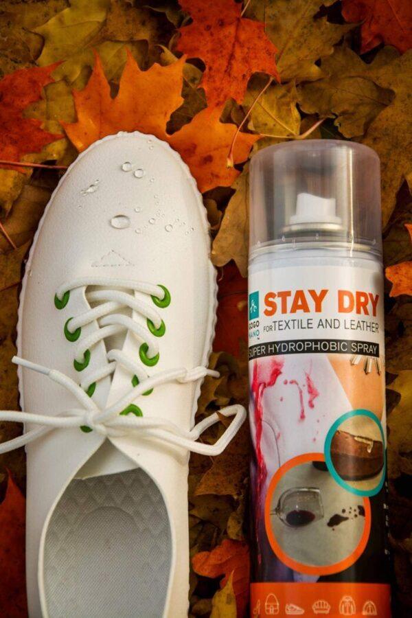 Tekstilės ir odos vandeniui atsparus purškiklis GoGoNano Stay Dry 300ml x 3