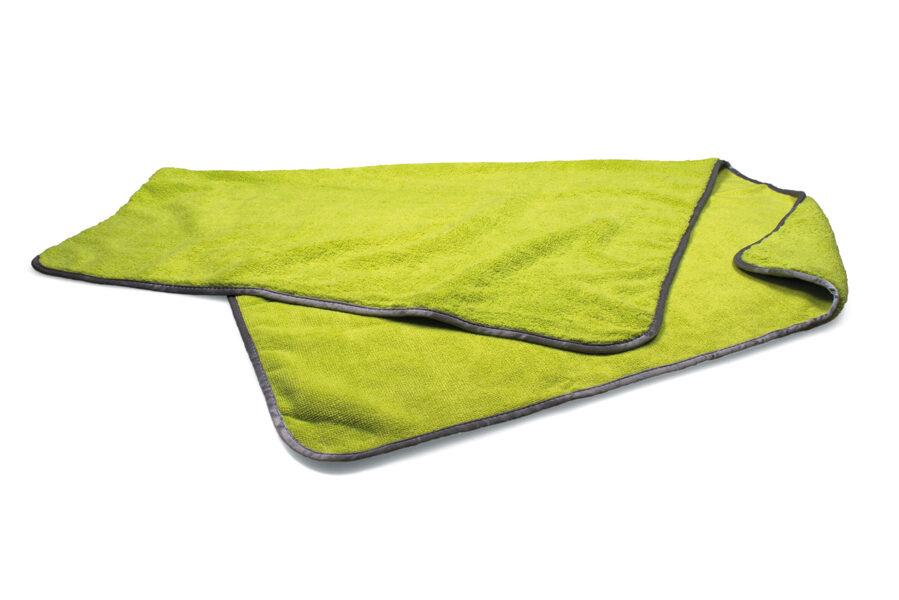 """Didelis """"Luxus"""" žalias mikropluošto audinys 60 X 90 cm"""